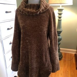 Anthropologie Cowl Neck Tunic Sweater